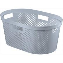 INFINITY DOTS 39L koš na čisté prádlo - šedý