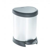 DECOBIN 5L odpadkový koš - stříbrný