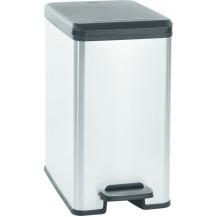 SLIM BIN 25L odpadkový koš - stříbrný