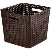 MY STYLE SQR box - tm. hnědá