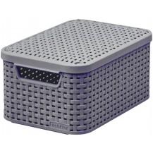 STYLE box s víkem - S - tm.hnědý