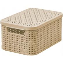STYLE box s víkem - S - mocha