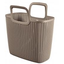 Nákupní taška KNIT - hnědá