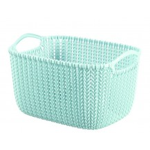 Košík KNIT - M - modrý