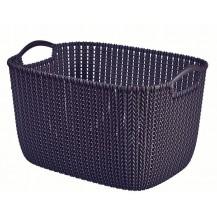 KNIT košík - L - fialová