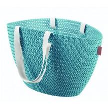 EMILY KNIT bag - modrá