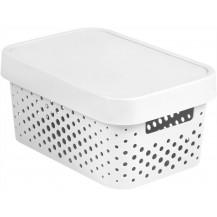 INFINITY DOTS box 4,5L - bílý