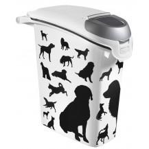 Kontejner na granule - 10kg - obrys pes