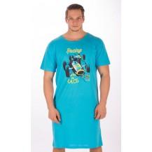 Pánská noční košile s krátkým rukávem Závodní auto