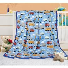 Dětská deka - autíčka 100x155 cm