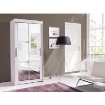 Skříň Karuba 120 bílá/zrcadlo
