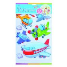 Dětské samolepky na zeď POP UP - letadla