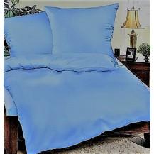 Prodloužené povlečení bavlna UNI 140x220, 70x90cm Modrá, Výběr zapínání: hotelový uzávěr