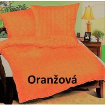 Krepové povlečení prodloužené  70x90 + 140x220 cm (oranžové)