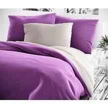 Bavlněný povlak na polštářek 35x45cm fialové/šedé