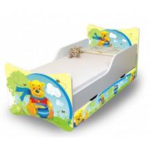 Dětská postel a šuplík/y Medvídek s medem NELLYS