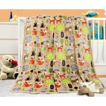 Dětská deka -  palouček 100x155 cm