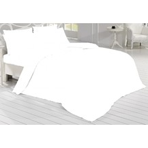 Francouzské povlečení Satén 220x200, 70x90cm Bílá, Výběr zapínání: zipový uzávěr