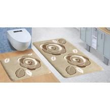 Koupelnová SADA ULTRA 60x100+60x50cm Růže hnědé