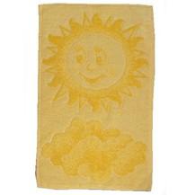 Dětský froté ručník 50x30cm Sluníčko žluté