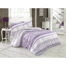Povlečení francouzské bavlna 220x200,70x90 Klaudie fialová, Výběr zapínání: nitěný knoflík