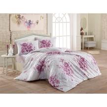 Povlečení bavlna 140x200, 70x90cm Melanie lila, Výběr zapínání: hotelový uzávěr