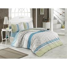 Povlečení francouzské bavlna 240x200,70x90 Mija modrá Skladem 1ks, Výběr zapínání: zipový uzávěr
