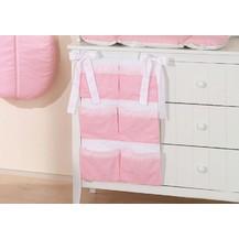 Kapsář 40 x 65 cm - Sovičky růžové/puntíky