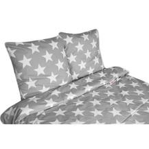 2 dílné bavlněné povlečení Baby Nellys ® 140 x 200 - BIG STAR - šedé
