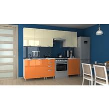 Kuchyňská linka Korry RLG 180/240 vanilka/oranžový lesk