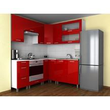 Rohová kuchyňská linka Grepolis RLG červený lesk