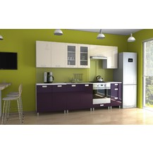 Kuchyňská linka Parkour RLG 260 jasmín/fialový lesk