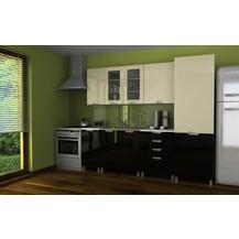Kuchyňská linka Simeon MDR 240 vanilka/černý lesk