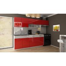 Kuchyňská linka Samara 180/240 červený lesk/bílý pás