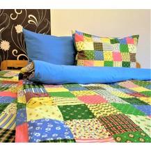Přehoz na postel bavlna140x200 (R0963 / modré)