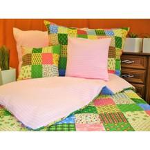 Přehoz na postel bavlna140x200 (R0963 / růžové)