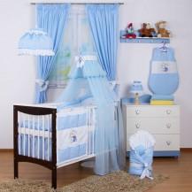 Zavinovačka BABY DREAMS - Mřížka modrá
