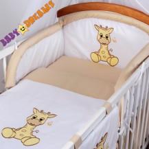Mantinel s povlečením Baby Dreams SAFARI - Žirafa - cappuccino