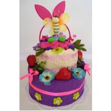 Textilní dort dětský pro dívky