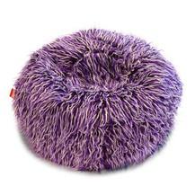 Sedací pytel Shaggy Multicolor white-black-purple