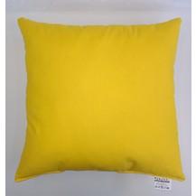 Polštářek žlutý 50x50cm bavlněný