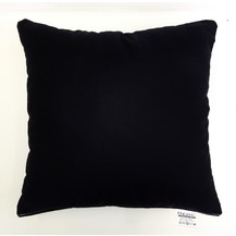 Polštářek černý 40x40cm bavlněný