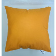 Polštářek oranžový 40x40cm bavlněný