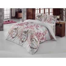 Povlečení francouzské bavlna 220x220, 70x90 Romantika bílá, Výběr zapínání: nitěný knoflík