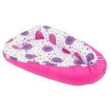 Oboustranné hnízdečko - kokon pro miminko - růžový / louka růžová