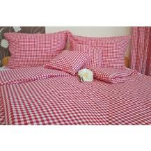 Bavlněný povlak na polštářek LUX 40x40cm kanafas červené srdíčko