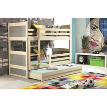 Patrová postel Riky borovice/grafit