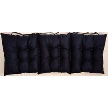 Sedák na lavici prošívaný 120 x 40 x 7,5cm černý