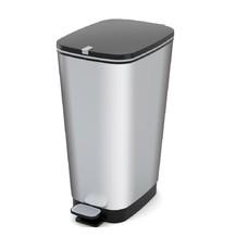 CHIC odpadkový koš 50L - stříbrný