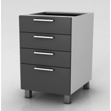 Kuchyňská skříňka Natanya SZ60 4SZ šedý lesk